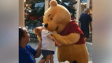 Video showing Winnie the Pooh comforting ill boy goes viral