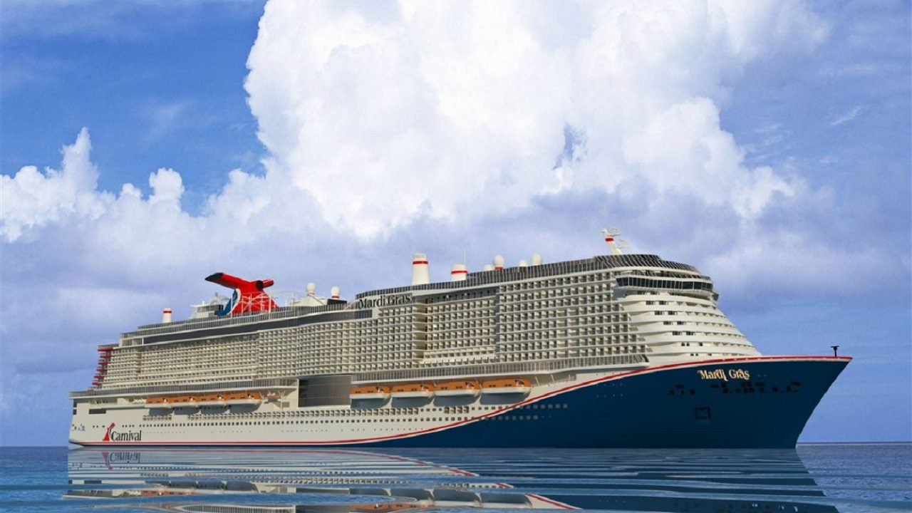 Carnival Cruise Line Names New Mega Ship Mardi Gras