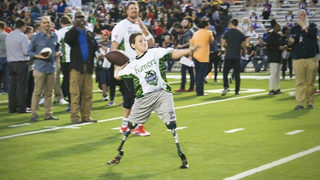 Double amputee not backing down from NFL dreams