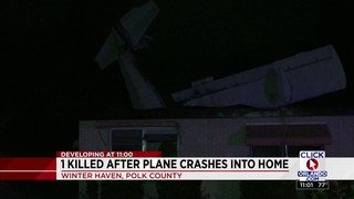 1 killed after plane crashes into home
