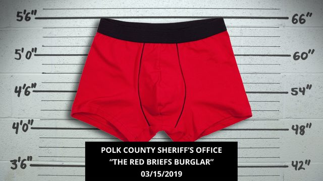 Polk sheriff taunts burglar: 'Your red undies are showing'