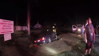 Hole swallows car after woman hits hydrant in DUI crash, FHP says