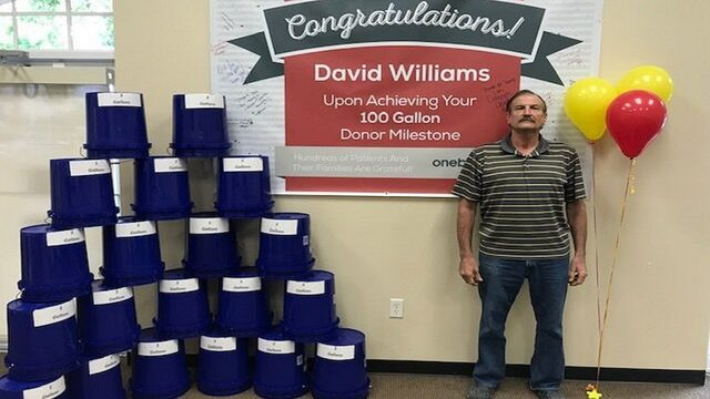 Tavares man donates 100th gallon of blood after 22 years of giving