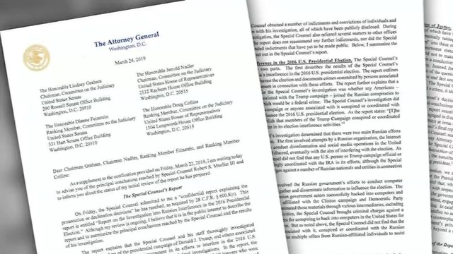Mueller report finds no evidence of collusion with Russia