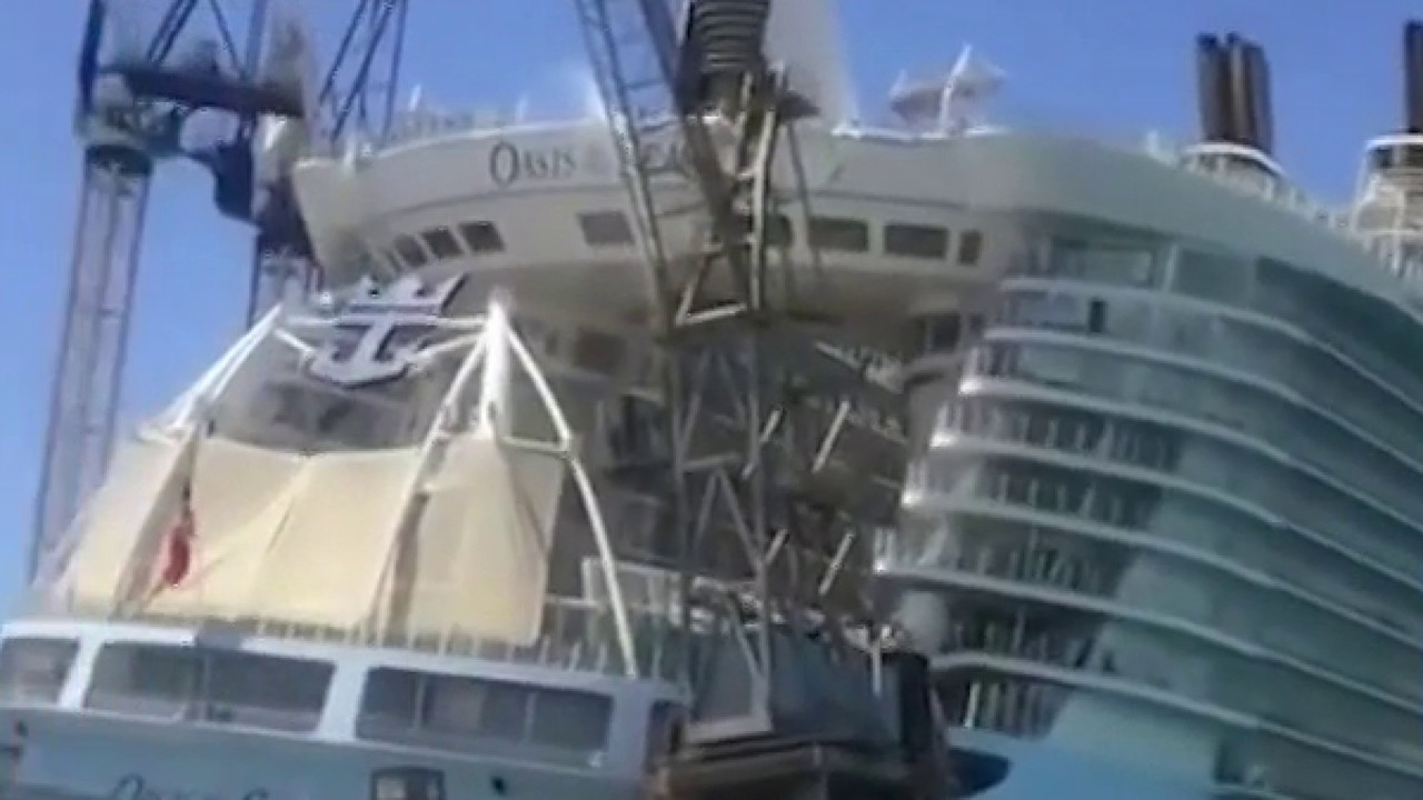8 hurt after crane falls on Florida-based Oasis of the Seas