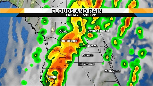 Here's your county-by-county forecast as storms head to Central Florida