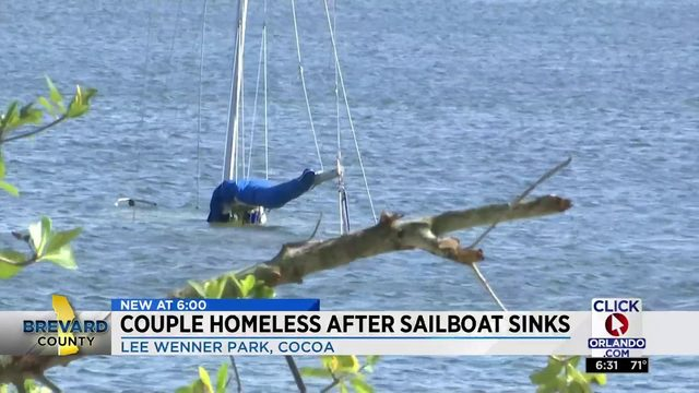 Couple Homeless After Sailboat Sinks