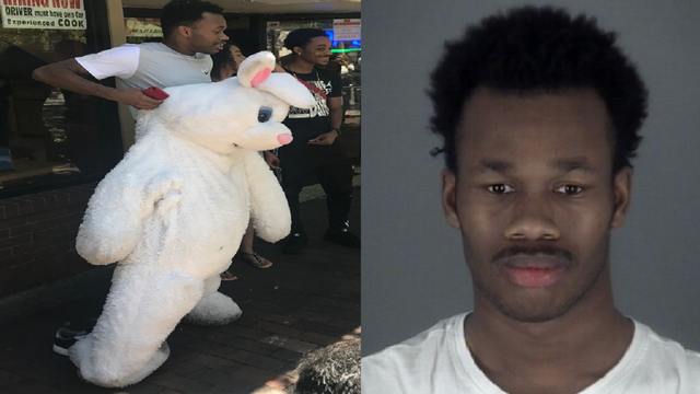 Easter bunny who went viral for Orlando brawl wanted in New Jersey, report says