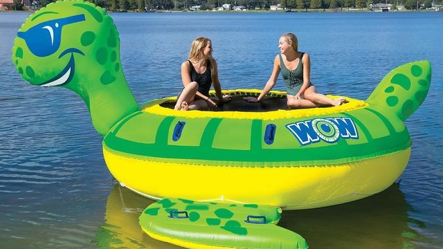 You'll want this giant inflatable water trampoline for summer
