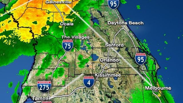 LIVE RADAR: Front brings showers, thunderstorms to Central Florida