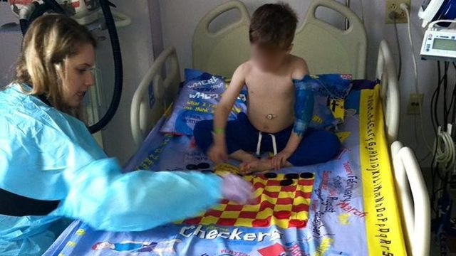 Man creates board game sheets for children confined to hospital beds