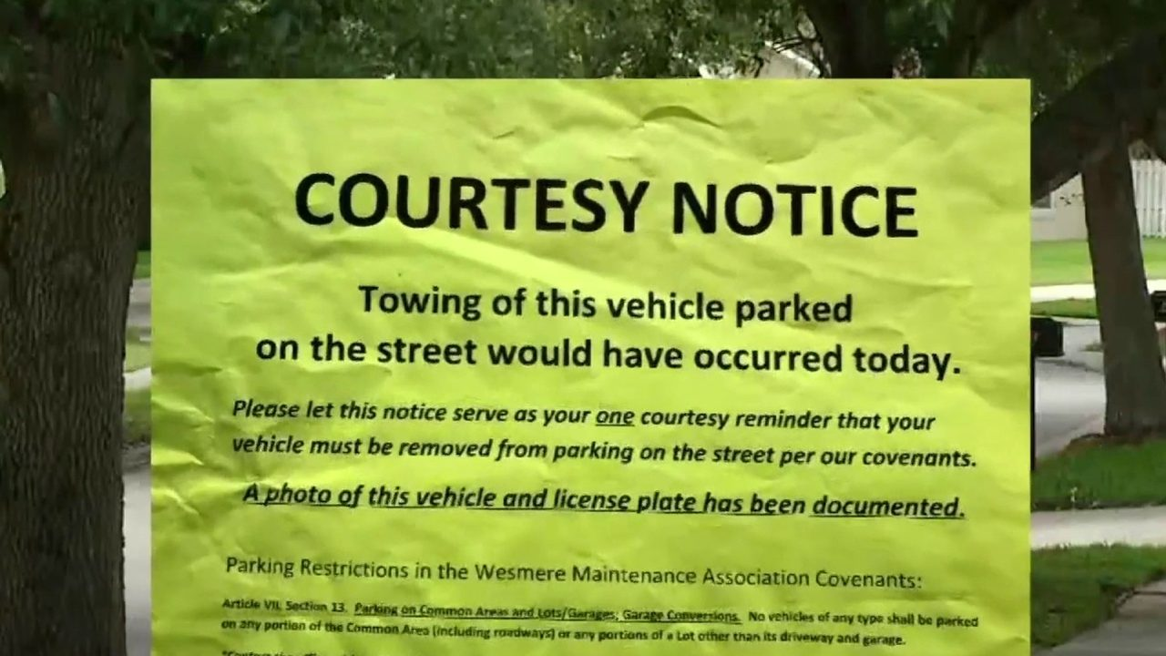 Wesmere subdivision homeowners sue HOA over street parking