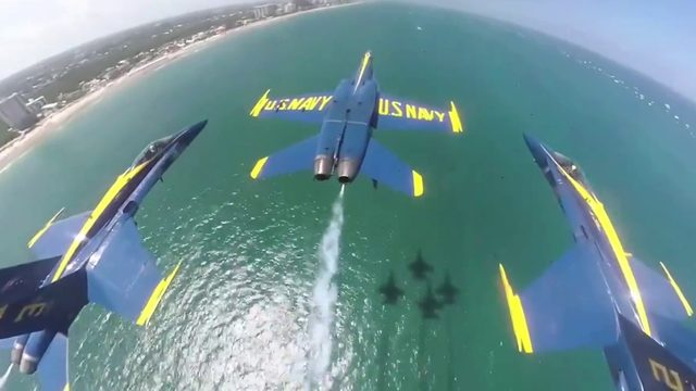 2 Blue Angels plane touch during midair practice run in Florida