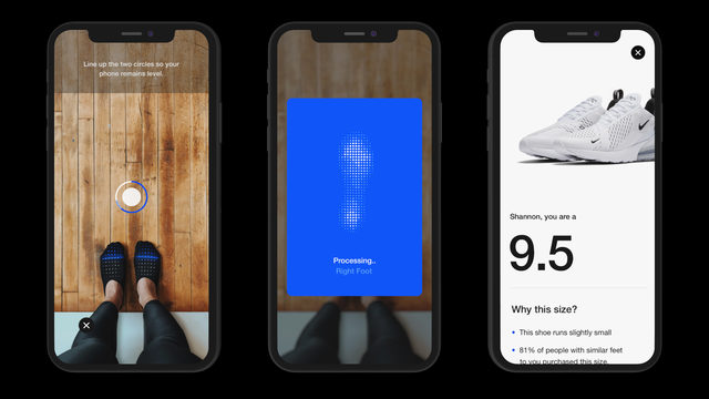 Scan your feet, find shoes that fit: AR coming to the Nike app