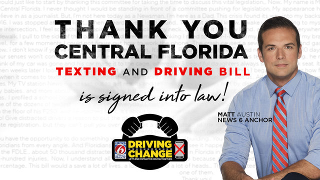 Floridians react to new texting and driving law
