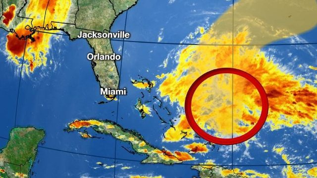Hurricane center keeps tabs on system in tropics