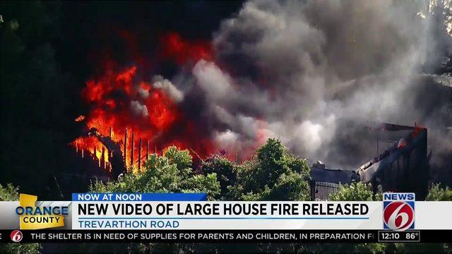 Massive fire destroys Orange County home