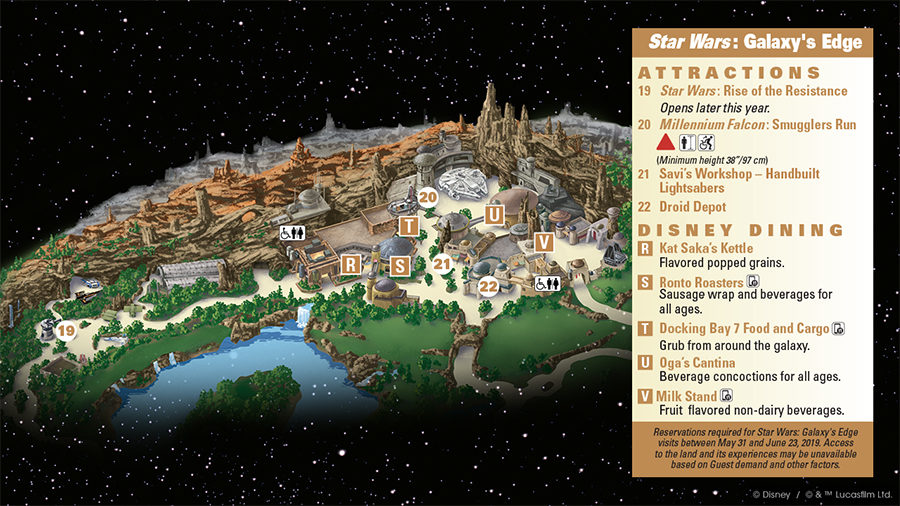 Disneyland releases first glimpse of Galaxy's Edge guide map on map of shows, map of food, map of beach, map of universal studios, map of shopping, map of aladdin, disney mgm studios, map of florida, map of wet n wild, map of kennedy space center, map of halloween, map of monorail, map of old town, map of animal kingdom, map of celebration, map of transportation, map of pop century resort, map of the polynesian resort, map of magic kingdom, map of typhoon lagoon,