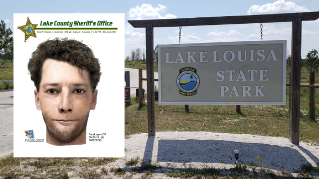 Sketch released in attempted sexual assault at Lake Louisa State Park