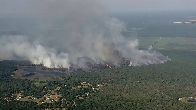750-acre brush fire in Marion County