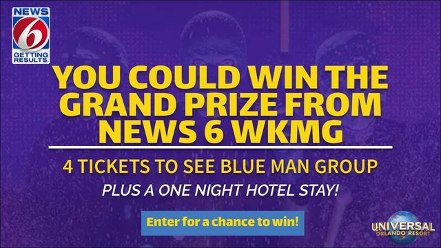 News 6 WKMG has your chance to win 4 tickets to Blue Man Group and one…