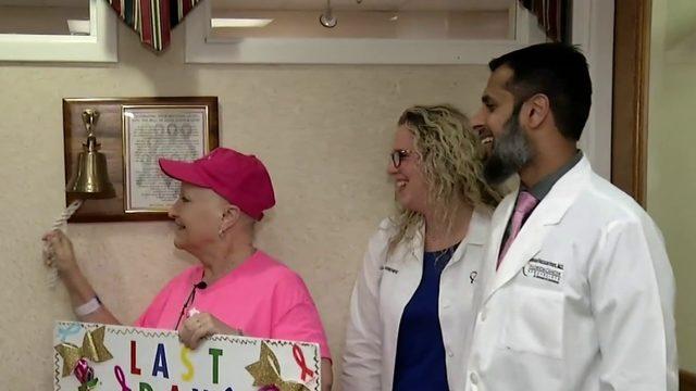 News 6 receptionist receives final cancer treatment