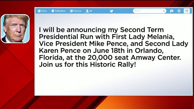 President to announce re-election bid in Orlando