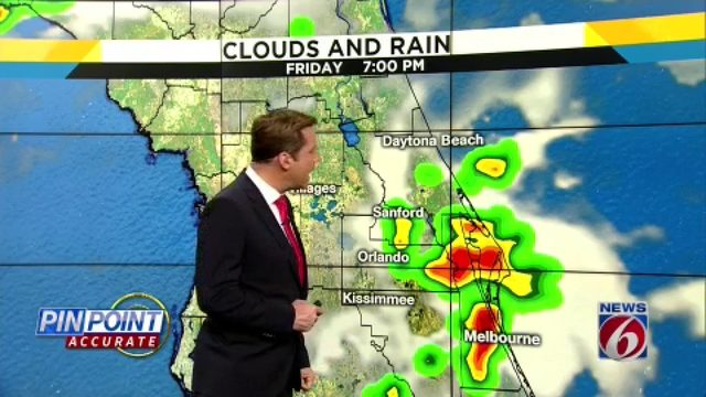 There's actually a chance of rain in Central Florida