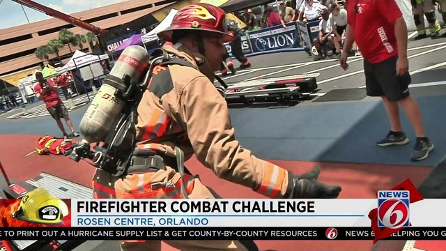 Firefighter Combat Challenge takes over the Rosen Centre in Orlando