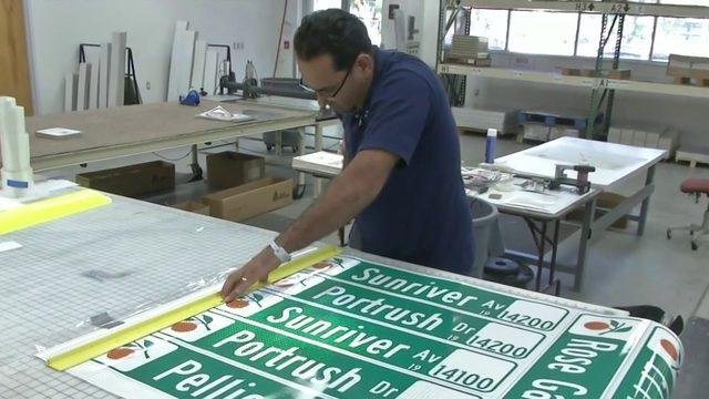 Inside Orange County's traffic sign workshop