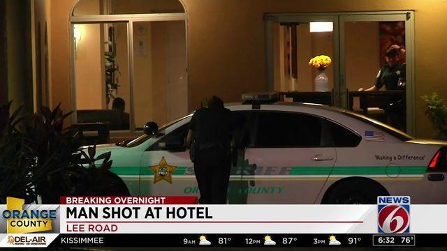 Man shot at Orange County hotel