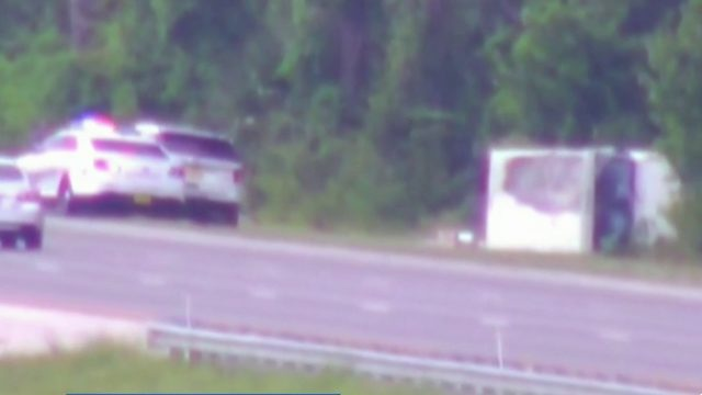 Stolen mail truck chase