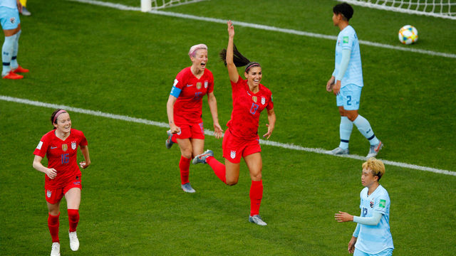 Watch Orlando Pride's Alex Morgan score 5 goals in World Cup game vs. Thailand