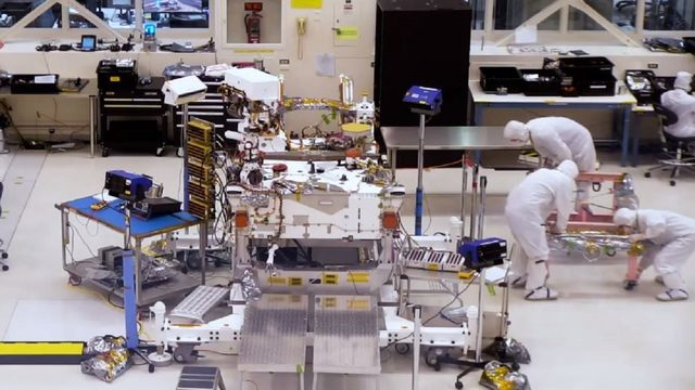 Watch NASA build its next Mars rover