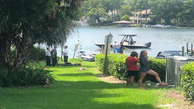 WATCH LIVE: Plane on lake in Maitland