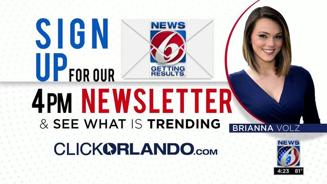 How to sign up for ClickOrlando.com's 4 p.m. newsletter