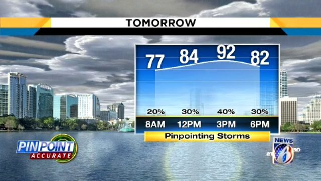 Temps could hit 87 in Central Florida on Saturday