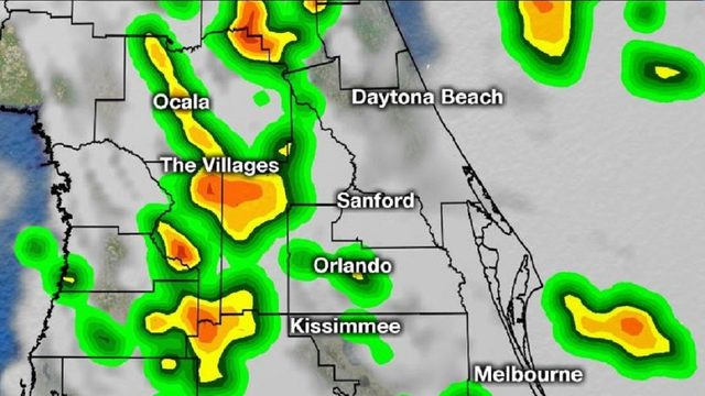 Sea breeze storms to pop up across Central Florida