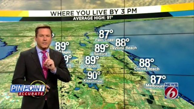 Rain chances remain high in Orlando area