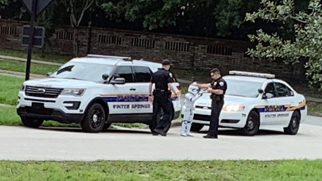 Stormtrooper 'taken into custody' in Winter Springs
