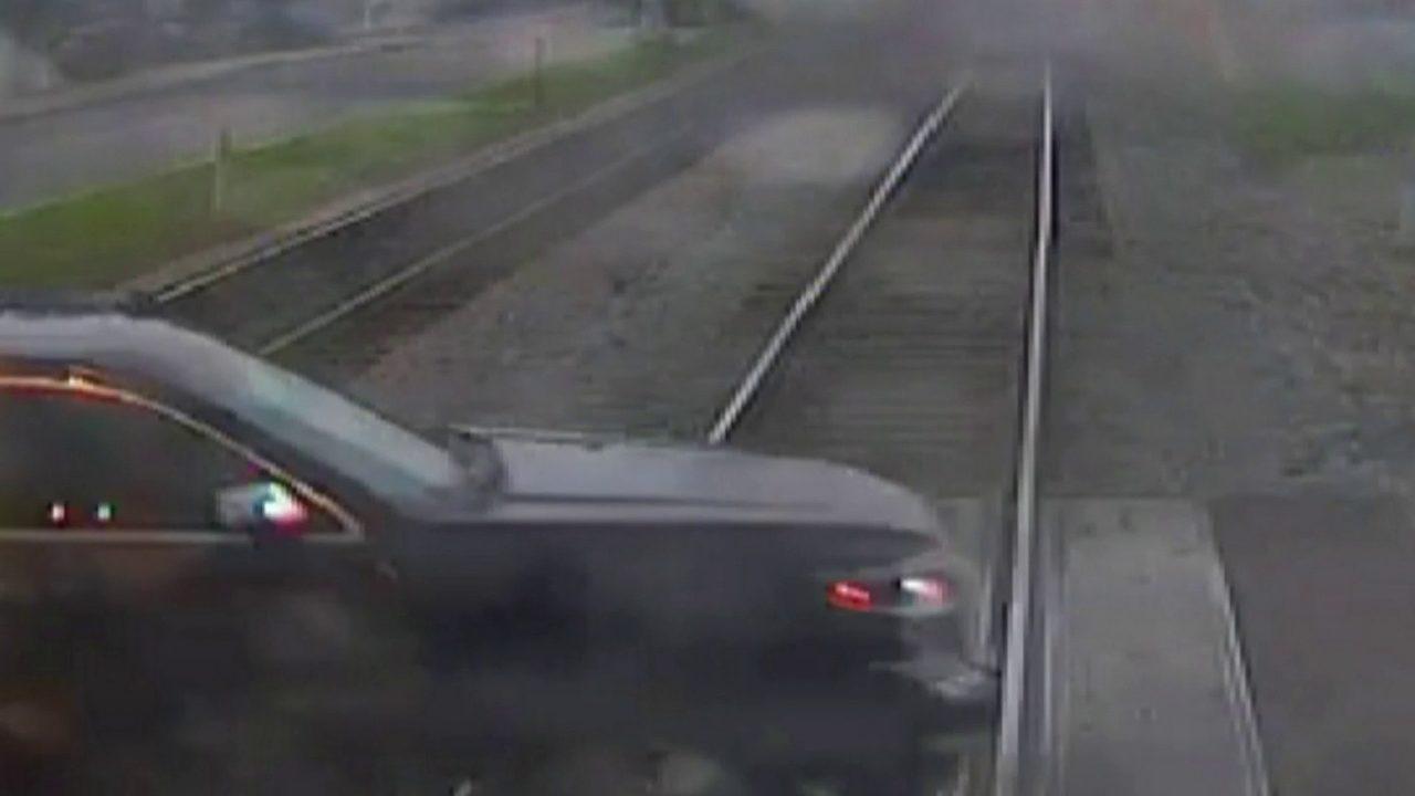 FDOT releases video of SunRail train hitting car in Longwood