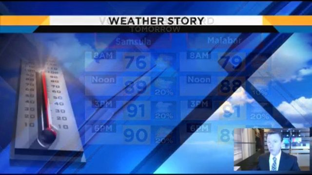Showers gone, the heat is on for tomorrow in Central Florida
