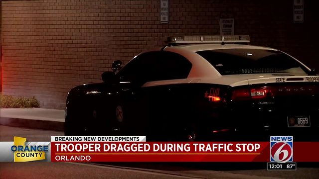 Trooper dragged by car during traffic stop in Orlando; 2 sought