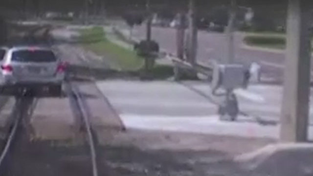 FDOT releases video of SunRail train crashing into car in Maitland