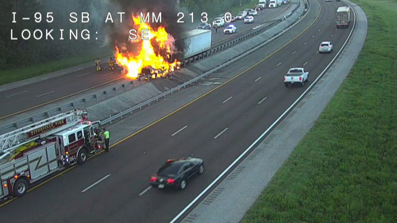 Truck accident i 95 explosion