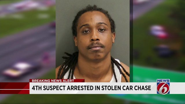 4th suspect arrested in stolen car chase