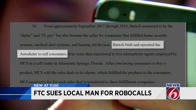 Kissimmee man sued by feds over millions of robocalls