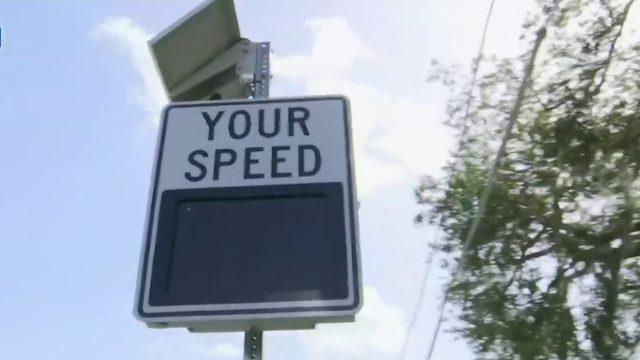 Signs stop speeders in neighborhood