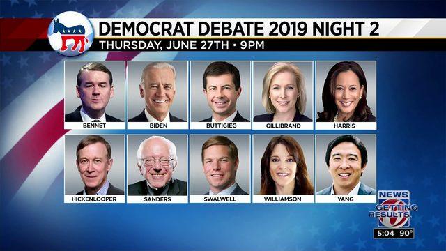 Democratic debate continues tonight
