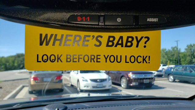Police distribute rearview mirror reminders to help prevent hot car deaths